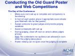 conducting the old guard poster and web competitions40
