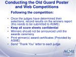 conducting the old guard poster and web competitions41