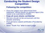 conducting the student design competition47