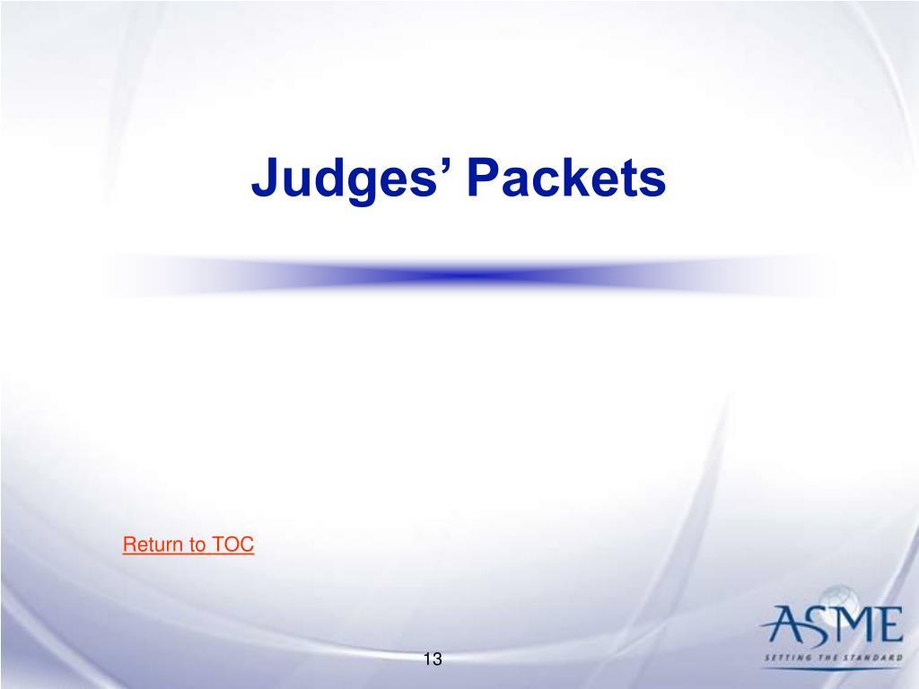 Judges' Packets