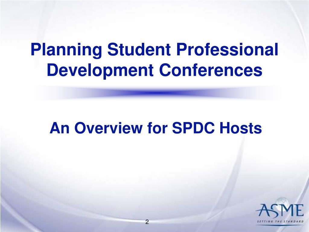 Planning Student Professional Development Conferences