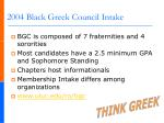 2004 black greek council intake