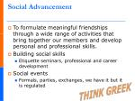 social advancement