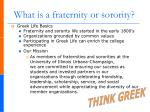what is a fraternity or sorority