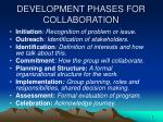 development phases for collaboration