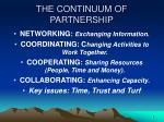 the continuum of partnership