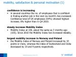 mobility satisfaction personal motivation 1