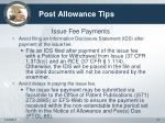 post allowance tips