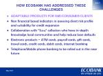 how ecobank has addressed these challenges3
