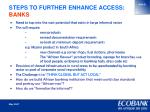 steps to further enhance access banks