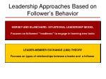 leadership approaches based on follower s behavior