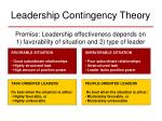 leadership contingency theory
