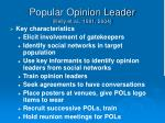 popular opinion leader kelly et al 1991 20041