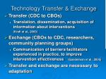 technology transfer exchange