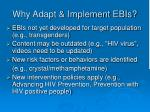 why adapt implement ebis