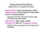 educational statistics quantitative vs qualitative data