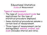educational statistics scales of measurement