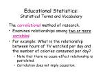 educational statistics statistical terms and vocabulary12