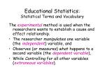 educational statistics statistical terms and vocabulary13