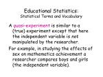 educational statistics statistical terms and vocabulary14