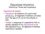 educational statistics statistical terms and vocabulary3