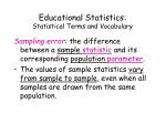 educational statistics statistical terms and vocabulary7