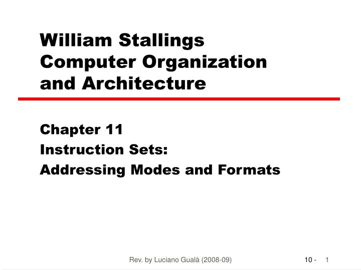 william stallings computer organization and architecture n.