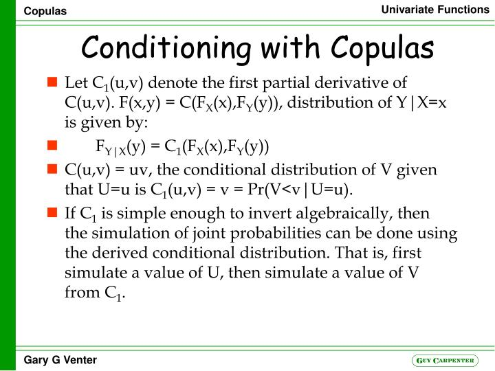 conditioning with copulas n.