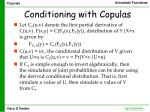 conditioning with copulas