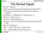the normal copula