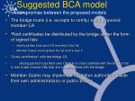 suggested bca model