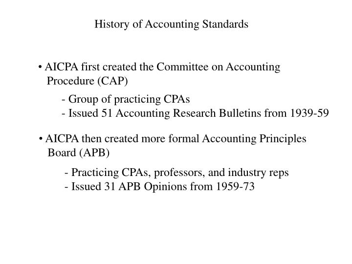 history of acounting Every time i teach accounting theory, the students asked me why they need to study the historical perspective in the development of accounting standards.