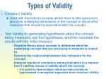 types of validity2