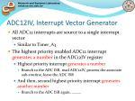adc12iv interrupt vector generator