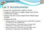 lab 3 accelerometer