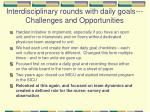 interdisciplinary rounds with daily goals challenges and opportunities