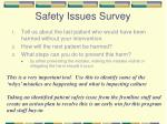 safety issues survey