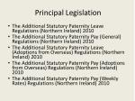 principal legislation