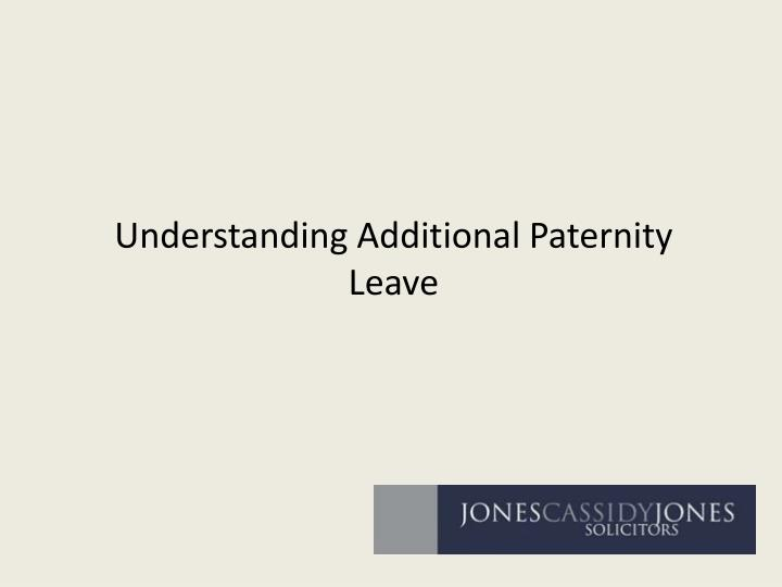 understanding additional paternity leave n.
