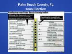 palm beach county fl 2000 election