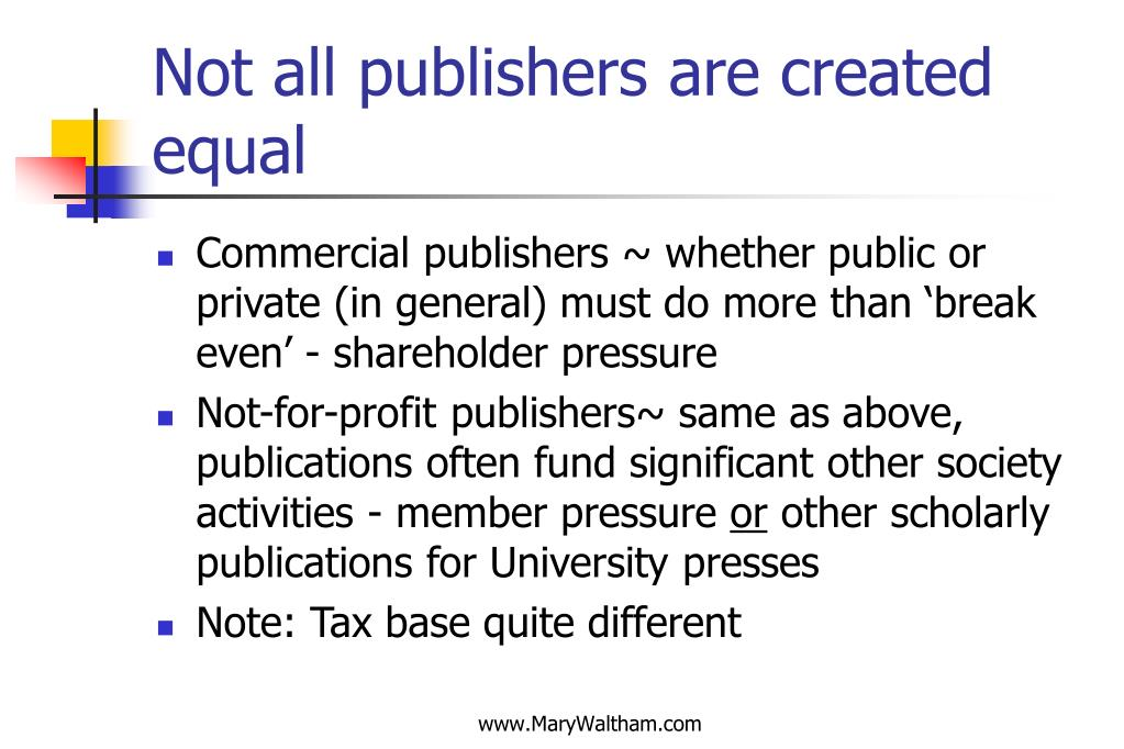 Not all publishers are created equal