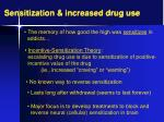 sensitization increased drug use