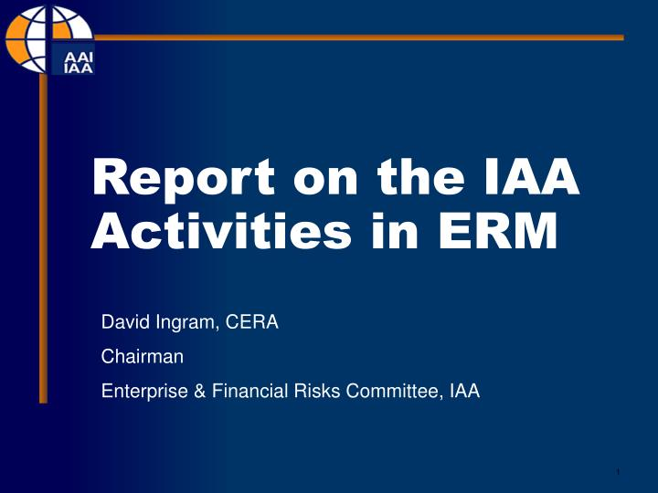 report on the iaa activities in erm n.