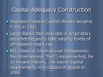 capital adequacy construction1