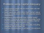 problems using capital adequacy
