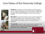 core values of the university college