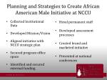 planning and strategies to create african american male initiative at nccu