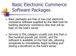 basic electronic commerce software packages