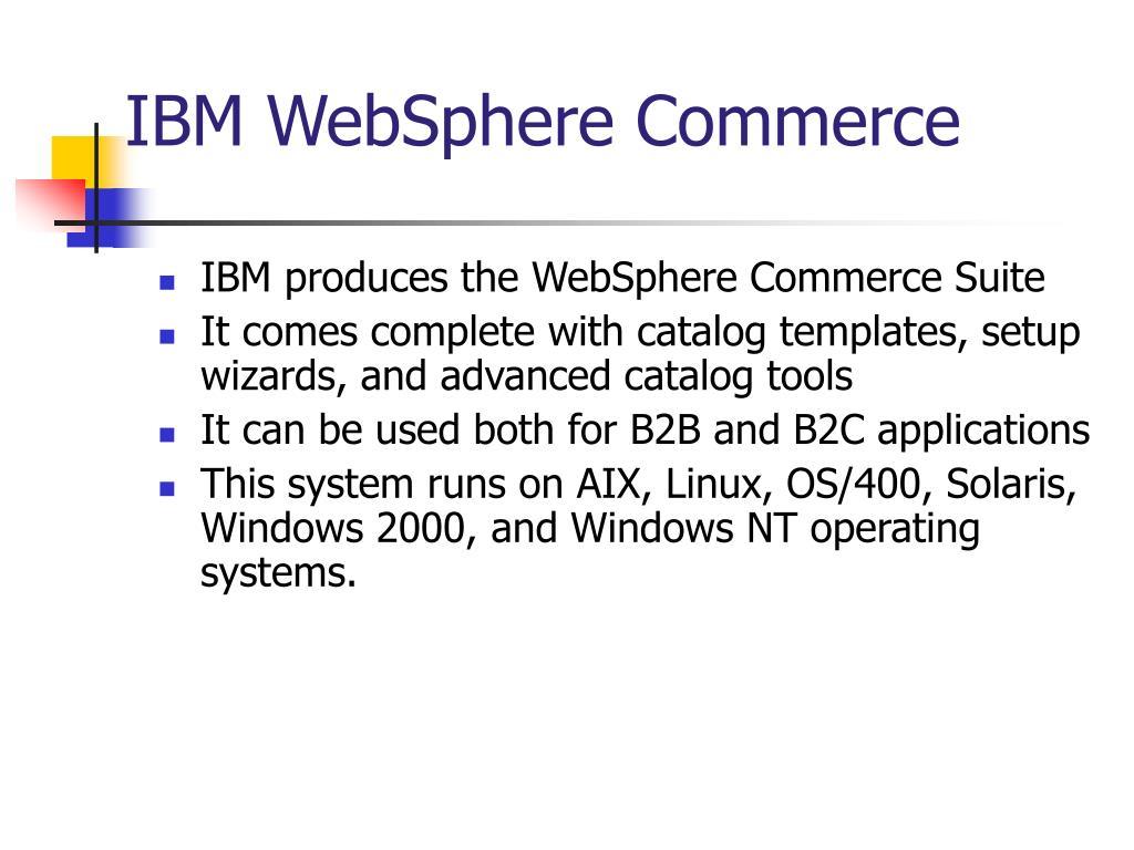 IBM WebSphere Commerce