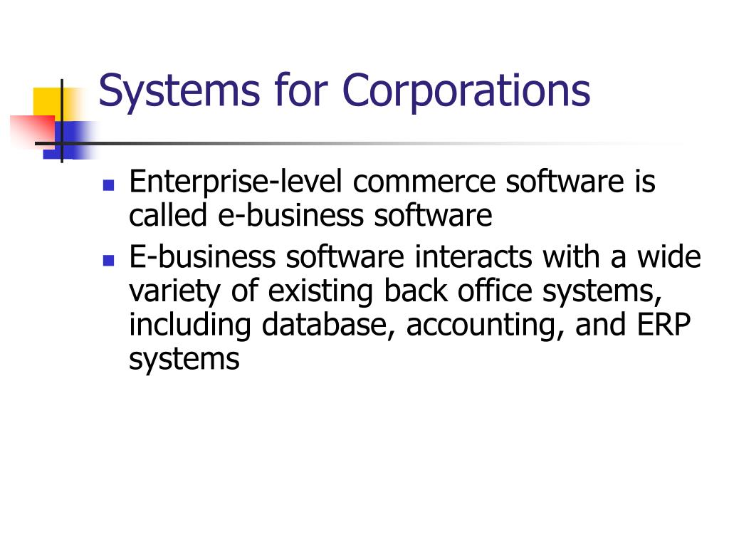 Systems for Corporations